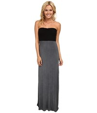 Hurley Tomboy Maxi Strapless Dress Dark Grey Women's Dress Gray