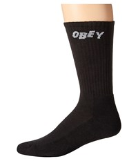 Obey Jumbled Socks Black Men's Crew Cut Socks Shoes