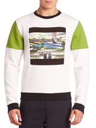 Opening Ceremony Space Agriculture Sweatshirt White Multi