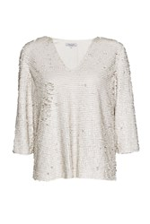 Great Plains Siren Sequin Top White