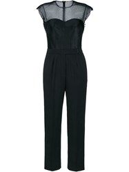 Lanvin Sweetheart Silk Blend Jumpsuit Black