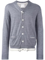 Sacai Drawstring Cardigan Grey