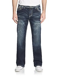 Affliction Cooper Distressed Straight Leg Jeans Snowmass
