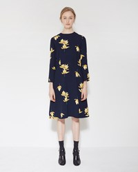 Marni Floral Dress Deep Blue