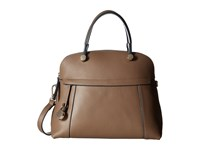 Furla Piper Medium Dome Daino Satchel Handbags Brown