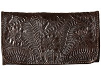 American West Annie's Secret Collection Tri Fold Wallet Chocolate Wallet Handbags Brown