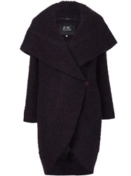 Zac Posen 'Camilla' Cocoon Wrap Coat Pink Purple