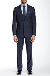 Kenneth Cole Reaction Woven Two Button Notch Lapel Suit Blue