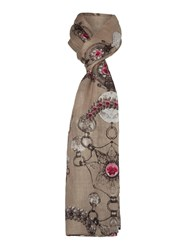 Lola Rose Deco Jewels Scarf Taupe