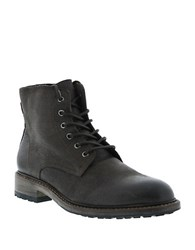 Blackstone Leather Lace Up Boots Brown