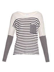 Velvet By Graham And Spencer Ario Striped Jersey T Shirt