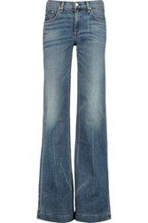 Rag And Bone Low Rise Flared Jeans Mid Denim