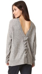 3.1 Phillip Lim Long Sleeve Sweater With Knots Heather Grey