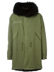 Mr And Mrs Italy Oversized Hood Parka Green