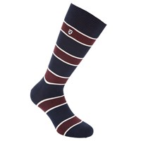 Barbour Hexham Seaweed Stripe Socks Blue Red
