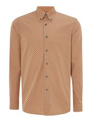 Peter Werth Seagrave Box Print Shirt Sand
