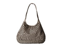 Sarah Jessica Parker Gansevoort Silver Metallic Leather Hobo Handbags