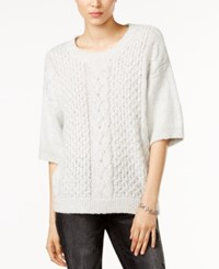 Tommy Hilfiger Simone Slouchy Cable Knit Sweater Only At Macy's Light Grey Heather