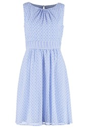 Comma Summer Dress Blue Light Blue