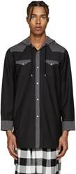 Kidill Black Hooded Western Shirt