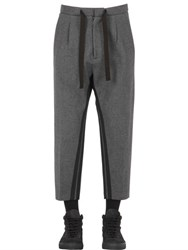 Var City Bonded Viscose And Wool Flannel Pants