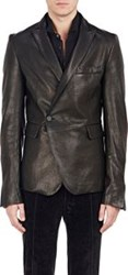 Haider Ackermann Leather Wrap Front Sportcoat Black