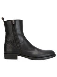 Ann Demeulemeester Zipped Ankle Boots Black