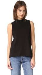 The Lady And The Sailor Mock Neck Tank Black