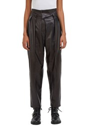 Drome High Waisted Leather Pants Black