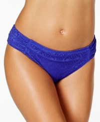 Bleu By Rod Beattie Crochet Lace Hipster Bikini Bottom Women's Swimsuit Twilight