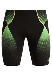 Speedo Pinnacle Swimming Shorts Black Fluo Green Global Gold