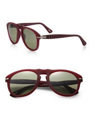 Persol Keyhole 52Mm Aviator Sunglasses Dark Red