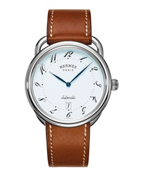 Arceau Automatic Watch On A Barenia Strap Hermes Timepieces
