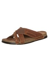 Pier One Sandals Tan Espresso Brown