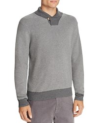 Brooks Brothers Waffle Knit Shawl Collar Sweater Medium Grey