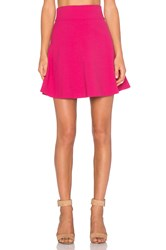 Red Valentino Fit And Flare Skirt Fuchsia