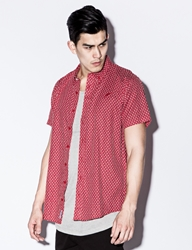 Red Franklin Button Up Shirt