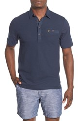 Farah Men's 'Lester' Knit Front Polo Navy Blue