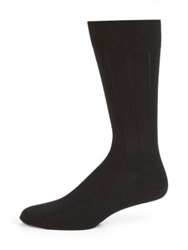 Marcoliani Cashmere Silk Ribbed Socks Amethyst Navy Black