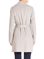Michael Michael Kors Wool Blend Open Front Drape Coat Pearl Heather