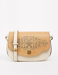 Nica Small Crossbody Bag With Cutwork Bonebiscuit