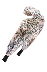 Cara Women's Palm Tree Print Headband Pink Pink Multi
