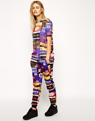 Criminal Damage Skinny Sweatpants With Chocolate Print Co Ord Multi