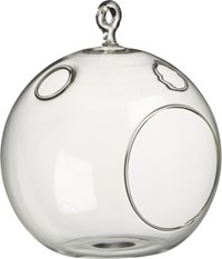 Cb2 Whirly Hanging Tea Light Candle Holder