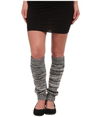 Ugg Classic Marled Leg Warmer Black Multi Women's Knee High Socks Shoes