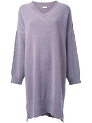 Rito V Neck Oversized Jumper Pink And Purple