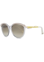 Christian Dior Dior Metal Eyes Transparent Oversized Sunglasses