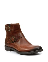 Gbx Brutal Leather Ankle Boots Tan