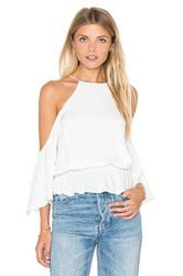 De Lacy Gemma Cold Shoulder Top White