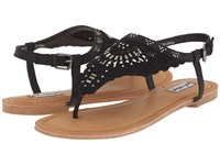 Not Rated Crochet Me Down Black Women's Sandals